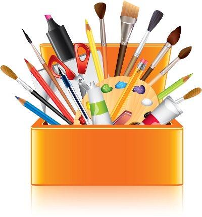 art supplies box